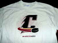 Cleveland Monsters Hockey Wine/Gold Cavaliers Colors White Large T-Shirt GIldan