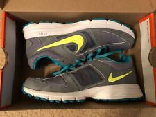 Womens Size 6.5 Nike Air Relentless 3 Athletic Shoes Gray w/ Teal & Yellow