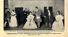 """Max Dreyer """"el läch. knabe"""" inauguración en el espectáculo Berliner komödienhaus c.1912"""