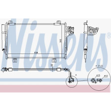 Kondensator Klimaanlage - Nissens 940387