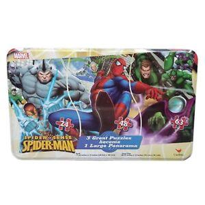 Marvel Spider Sense Spider-Man 3 Puzzle Panorama Set Tin Box NEW Sealed