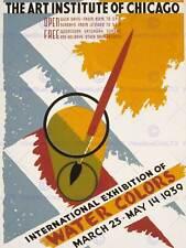 Exposición Internacional de Publicidad Agua Colores Art Institute de Chicago impresión CC273