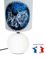 Lampe de chevet ORQUE cr/éation artisanale type serviettage c/éramique.