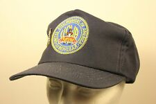 Retired United Seel Workers Patch Trucker Hat Cap USA Pin Snap Back TRIMMED