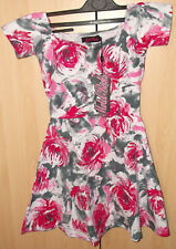Motel Rocks Catalina Dress Pink Flower Buzz Grey BNWT Size: X Small
