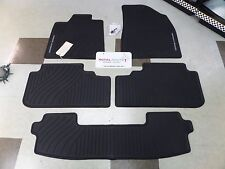 Toyota Highlander 08-13 Factory All Weather Rubber Floor Mats w/ 3rd Genuine OEM