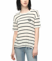 VANS (ZEPPELIN II) S/S RIBBED CREW SHIRT TOP WHITE STRIPED SIZE XL NWT NEW