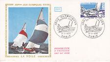 Enveloppe 1er jour CEF 1976 Jeux Olympiques La Voile