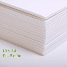 10 PLAQUES CARTON PLUME MOUSSE 2 FACE BLANCHE KAPA LINE 5 M/M FORMAT A4 MAQUETTE