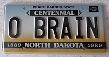 North Dakota 1989 VANITY License Plate O'BRYAN