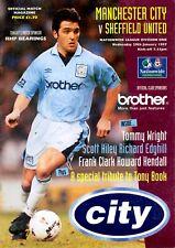 Manchester City v Sheffield United programme, 1st Division, January 1997