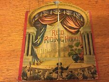 RARE 1891 Mcloughlin Bros RED RIDING HOOD Stage Theater Childrens Book