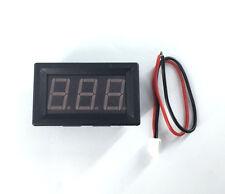 Mini Red LED Panel Volt Meter 9V 12V 24V 36V 48V 100V Doesn't Require Power