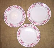 3 VINTAGE HOMER LAUGHLIN BEST CHINA Dinner Plates Chardon Rose Restaurant Ware