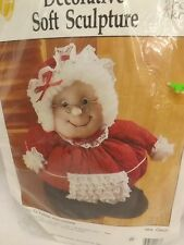 Vtg Hobby Craft MRS CLAUS SOFT SCULPTURE DOLL Sewing Craft Kit XMas Decoration