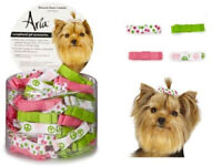 """Aria - Dog Puppy Grooming Bow - Canister of 100 Bows - Blossom - 1 3/4"""""""