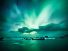 SPACE PHOTO AURORA BOREALIS NORTHERN LIGHTS LARGE WALL ART PRINT POSTER LF2341