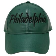 Philadelphia Eagles Inspired Faux Leather Cap New With Tags Super Bowl Edition