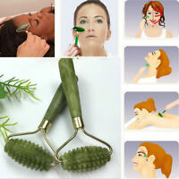 Women Anti-aging Jade Stone Massage Roller Natural Face Body Healthy Cold Thera