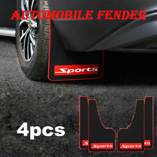 Universal Sports Styling Car Rubber Black Mudflaps Mud Flaps Set of 4 Front&Rear