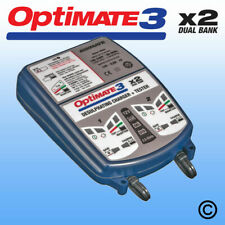 OptiMate 3 Dual Battery Charger & Conditioner UK Supplier Warranty 2020 NEW
