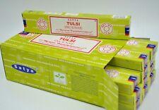 Indias Original Satya Nag Champa Tulsi scent dhoop Incense Sticks Agarbatti 12Pk