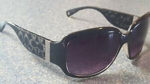Coach Christiana Black Sparkling Logo Designer Sunglasses