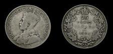 1921 Canada 25 Twenty-Five Cent Piece King George V VG-8
