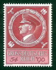 DR Nazi 3rd Reich Rare WW2 WWII Stamp Hitler Head Fuhrer BirthDay Swastika Eagle