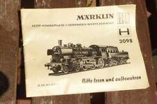 Märklin 3098 DESCRIZIONE ISTRUZIONI SULLA LOCOMOTIVA a vapore BR 38 1807 H0