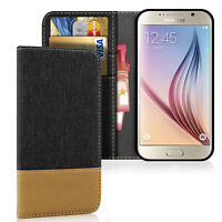 Hülle für Samsung Galaxy S6 Handy Schutz Case Wallet Tasche mit Kartenfach Cover