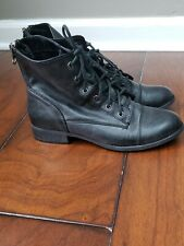 Womens Guess Ankle Combat Boots Black Size 5.5