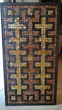 MID CENTURY MODERN MOSAIC MARBLE TILE WALL ART COFFEE TABLE NEOCLASSIC GREEK KEY