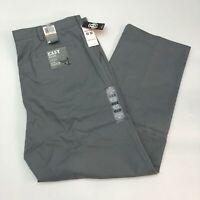 New Dockers D3 Khaki Pants Mens 42X32 Gray Flat Front Classic Fit Wrinkle Free