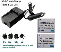 2X  NB11LH NB-11L Battery+charger for Canon IXUS185 IXUS190 PowerShot A2400IS