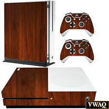 Xbox One S Wood Skin Microsoft Xbox One Slim Woodgrain Decal Sticker VWAQ-XSGC4