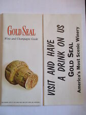 Vintage Gold Seal Vineyards Wine & Champagne Guide Hammondsport, Ny Booklet