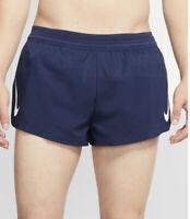 Men's Nike Aeroswift Running Athletic Shorts Navy Blue Size L Large AQ5257-410