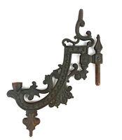 Vintage Kerosene Oil Lamp Bracket Swing Arm Wall Mount Cast Metal Part A