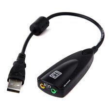 7.1Channel 3D Virtual USB External Audio Sound Card Headset Microphone Adapter