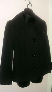 Ladies UK 10 Petite Collection Debenhams Smart Black Jacket