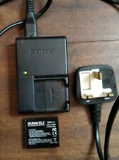 Sony Battery Charger BC-CSGC Camera with new battery