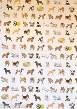 2 x A4 Dogs Patterned Vellum Paper NEW