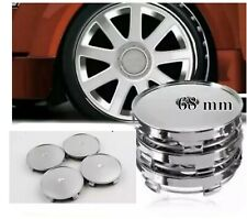 4x68mm Universal Chrom Wheel Tire Center Blank Replacement Hub Caps Cover Silver