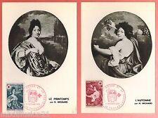 1968 - LA PAIRE FDC CP ILLUSTREE 1°JOUR**CROIX ROUGE-MIGNARD/TIMBRE/Yt.1580/1