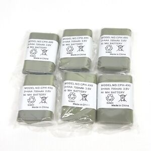 Lot of 6 Replacement for Panasonic CPH-490 NiMH Cordless Phone Battery