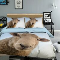 3D Sheep I86 Animal Bed Pillowcases Quilt Duvet Cover Queen King Angelia