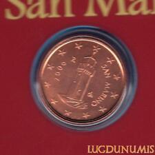 Saint Marin 2006 1 Centime D'Euro BU FDC 70 000 exemplaires Provenant du BU RARE