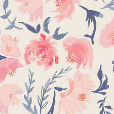 Art Gallery ~ Aquarelle Study Wash Fabric / quilting floral pink dressmaking