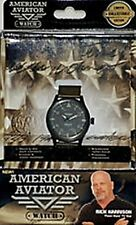 AMERICAN AVIATOR UNISEX WATCH LIMITED COLLECTIBLE EDITION WITH GREEN NYLON BAND